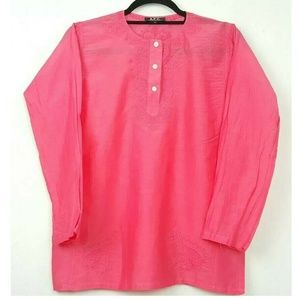A.P.C. Silk Blend Pink Tunic Blouse Size S
